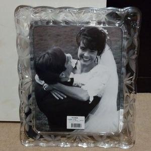 SOLD..Gorgeous MIKASA Wedding Crystal Frame-8 x 10